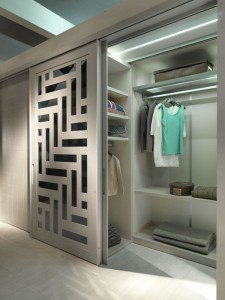 Closet doors and walk in closet