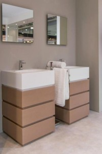 Modern white bathroom sinks