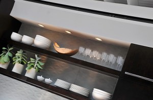 Lighting in kitchen cabinets