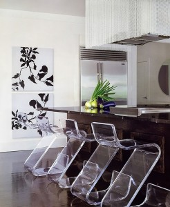 modern plastic kitchen chairs