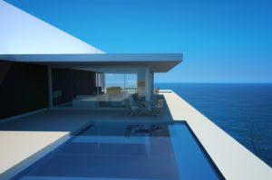 Hidden water pool home beach